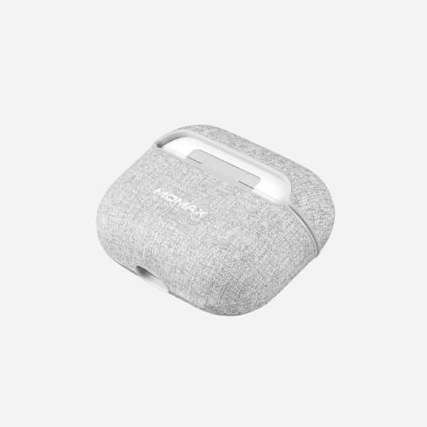 MOMAX Leather Case for Apple Airpods Pro Gray