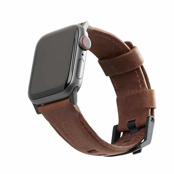 UAG Leather Watch Strap for Apple Watch 44mm/42mm - Brown