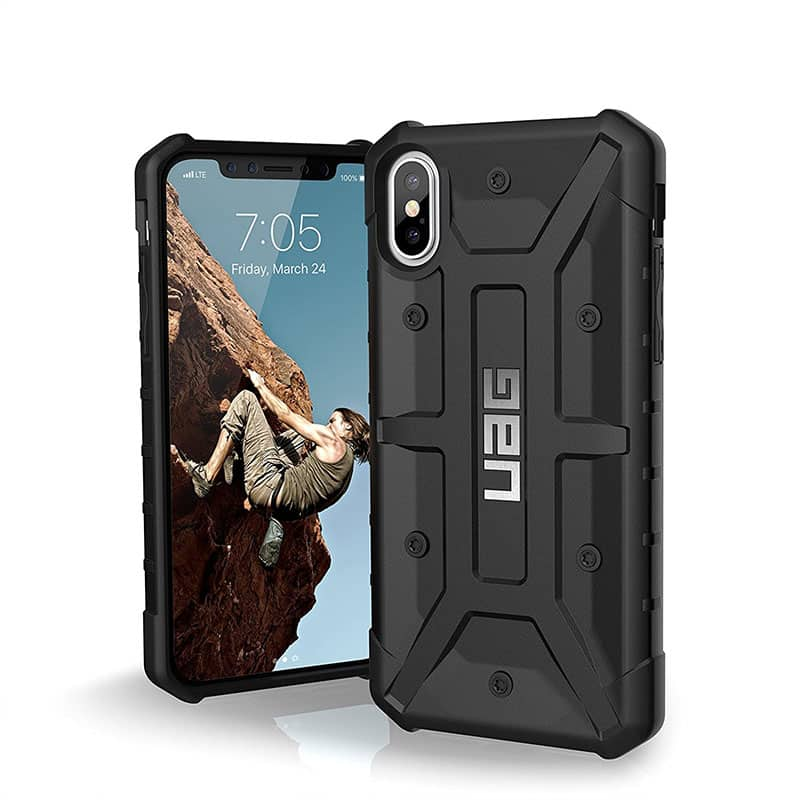 UAG Pathfinder Series Case for iPhone X/Xs - Black/Silver
