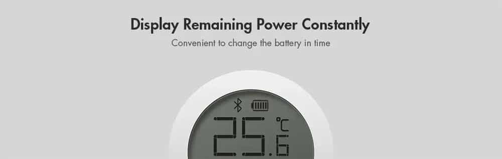 Xiaomi Mi Temperature and Humidity Monitor Display Remaining Power Constantly