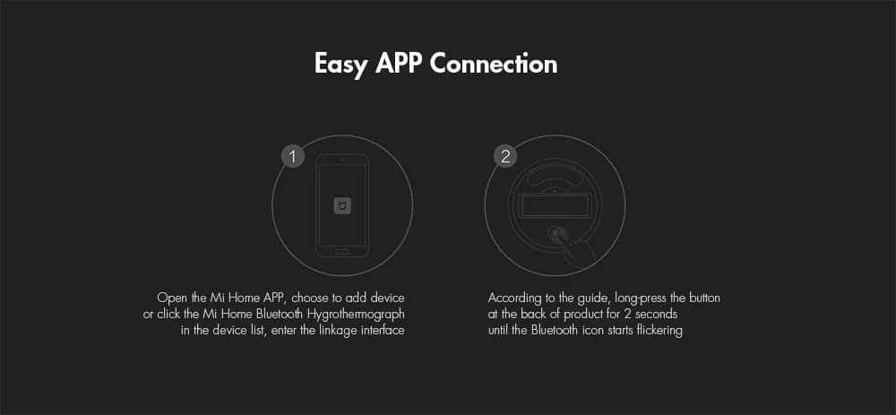 Xiaomi Mi Temperature and Humidity Monitor Easy App Connection