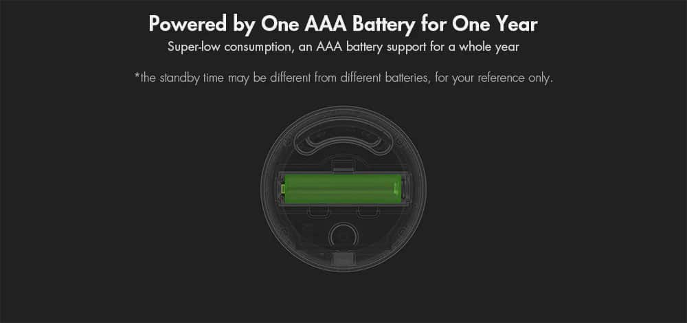Xiaomi Mi Temperature and Humidity Monitor Powered by One AAA Battery for One Year