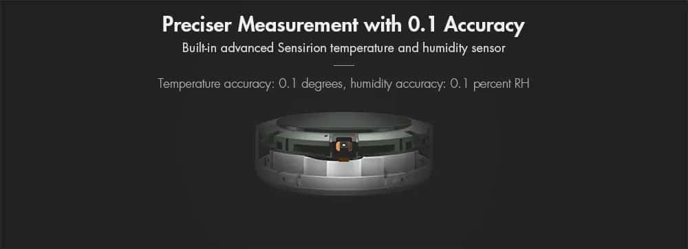 Xiaomi Mi Temperature and Humidity Monitor Preciser Measurement with 0.1 Accuracy