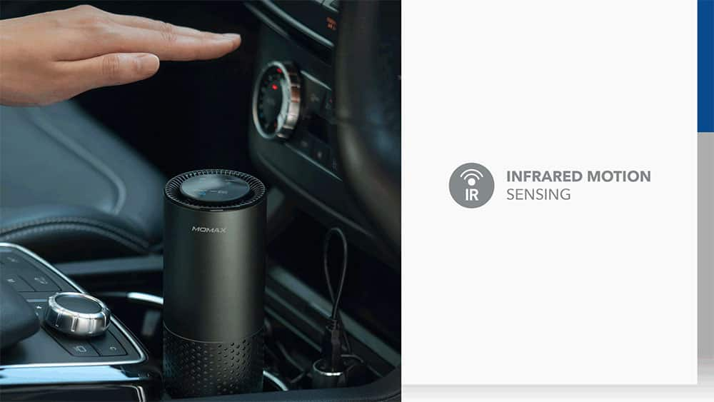 MOMAX Pure Go Portable Smart Air Purifier Infrared Motion Sensing