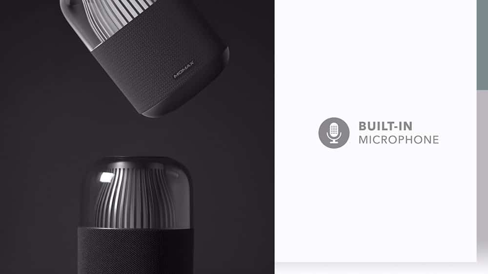 MOMAX SPACE Wireless Speaker with Built-In Microphone
