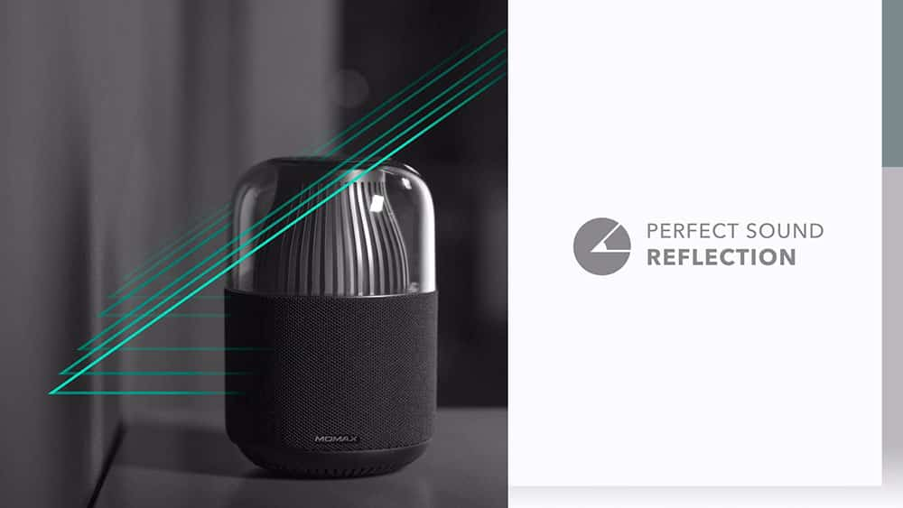 MOMAX SPACE Wireless Speaker with Perfect Sound Reflection