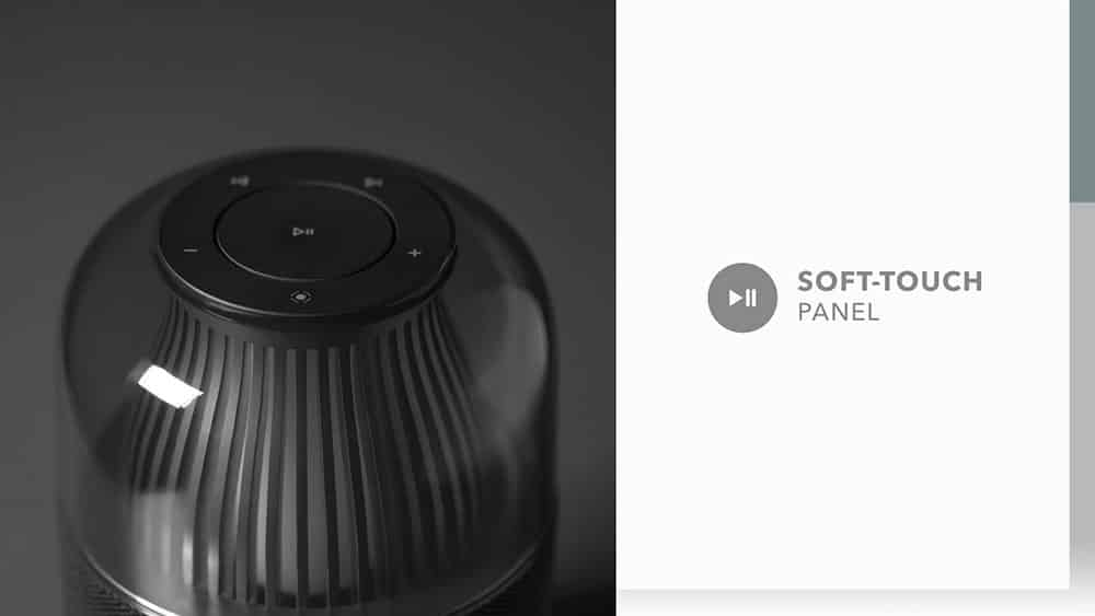 MOMAX SPACE Wireless Speaker with Soft Touch Panel