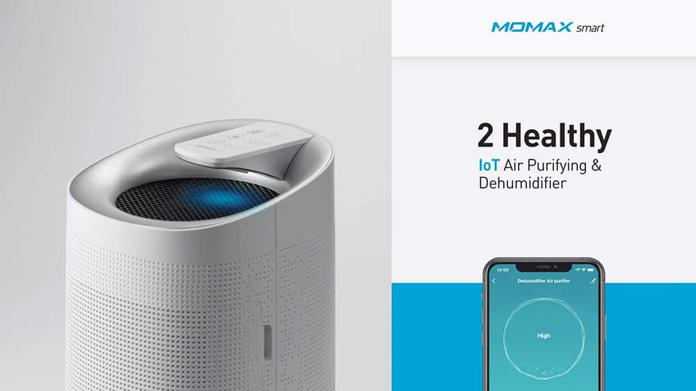 MOMAX Smart 2 Healthy IoT Air Purifying & Dehumidifier