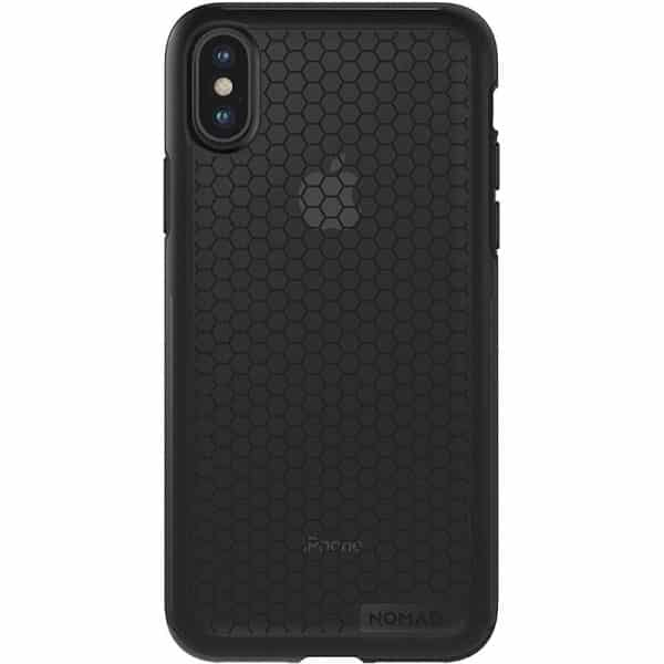 NOMAD Hexagon Case for iPhone X TPU Rubber Black & Smoked Gray
