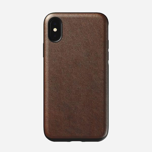 NOMAD Rugged Case for iPhone X XS Rustic Brown Leather