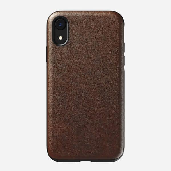 NOMAD Rugged Case for iPhone XR Rustic Brown Leather