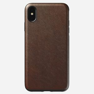 NOMAD Rugged Case for iPhone XS MAX Rustic Brown Leather