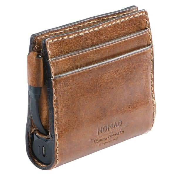 NOMAD Slim Leather Wallet with Charging Rustic Brown Leather