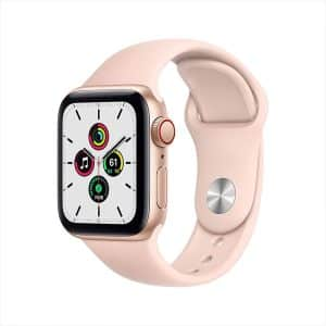 Apple Watch SE GPS+Cellular 40mm Gold Aluminum Case with Pink Sand Sport Band