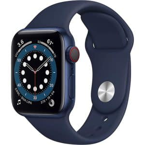 Apple Watch Series 6 GPS+Cellular 40mm Blue Aluminum Case with Deep Navy Sport Band