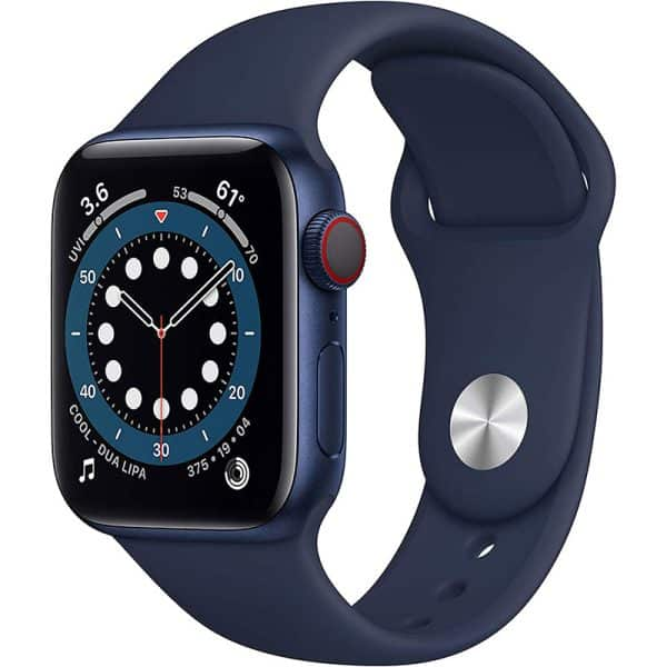 Apple Watch Series 6 GPS+Cellular 40mm Blue Aluminum Case with Deep Navy Sport Band