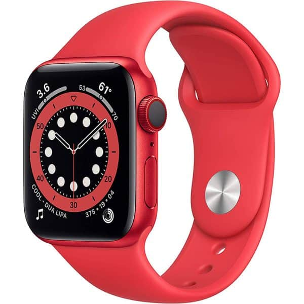 Apple Watch Series 6 GPS+Cellular 40mm Product RED Aluminum Case with Product RED Sport Band