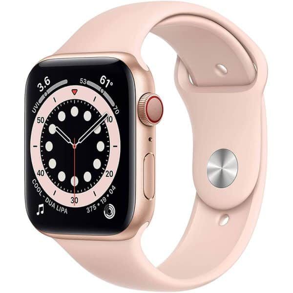 Apple Watch Series 6 GPS+Cellular 44mm Gold Aluminum Case with Pink Sand Sport Band