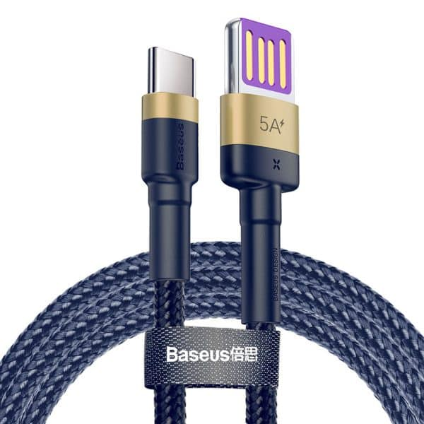 Baseus Cafule HW Quick Charging Data Cable Gold+Blue