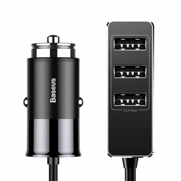 Baseus Enjoy Together Four Interfaces Car Charger 5.5A Black