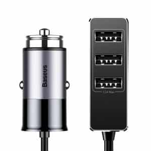 Baseus Enjoy Together Four Interfaces Car Charger 5.5A Dark Gray