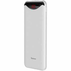 Baseus Gentleman Digital Display Portable Power Bank 10000mAh White