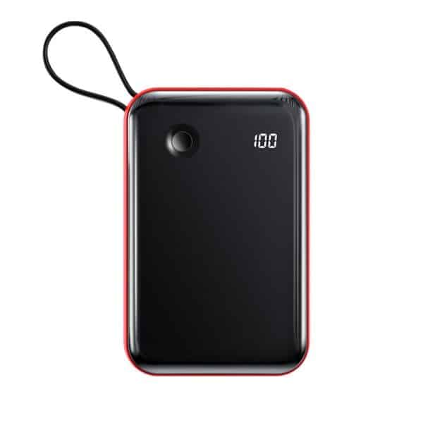 Baseus Mini S Digital Display 3A Power Bank 10000mAh with Type-C Cable Black