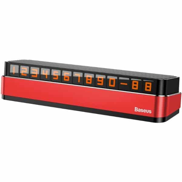 Baseus Moonlight Box Series Temporary Parking Number Plate Red