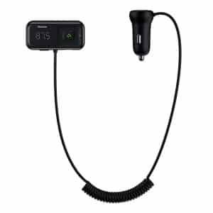 Baseus T Typed S-16 Wireless MP3 Car Charger Black