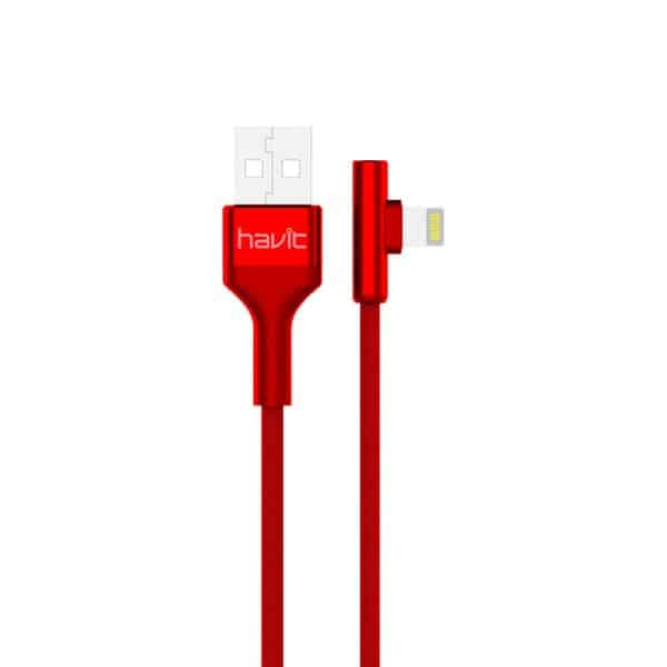 HAVIT USB to Lightning Fine Cable 1.2m H672 - Red
