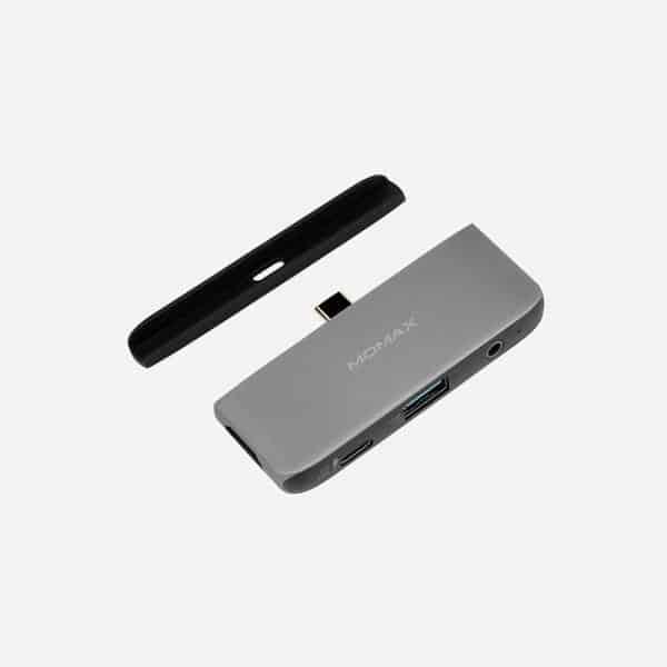 MOMAX ONELINK 4-in-1 USB-C Hub Dark Gray