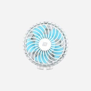 MOMAX iFan2 Portable Fan with Mirror & Built-In Battery White