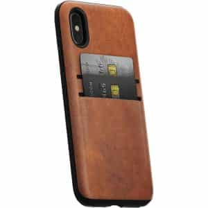 NOMAD Wallet Case for iPhone X Rustic Brown Horween Leather