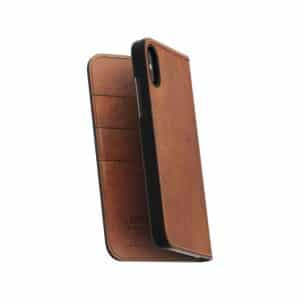 NOMAD Leather Folio Case for iPhone X Rustic Brown Horween Leather