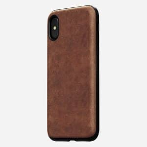 NOMAD Rugged Case for iPhone X Rustic Brown Horween Leather