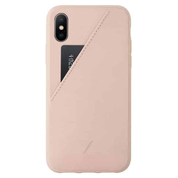 Native Union Clic Card Case for iPhone XS Max Rose