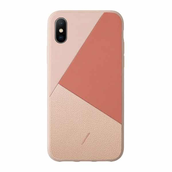 Native Union Clic Marquetry Case for iPhone X/XS Rose
