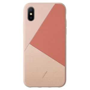 Native Union Clic Marquetry Case for iPhone XS Max Rose