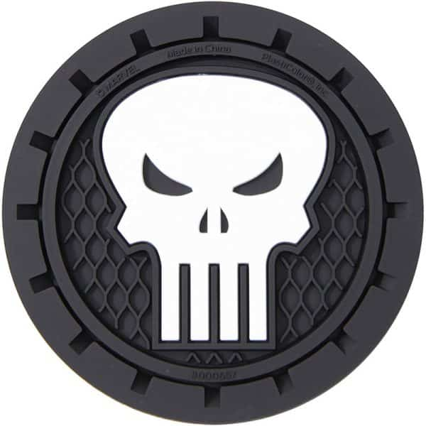 Plasticolor Marvel Punisher Auto Car Truck SUV Cup Holder Coaster 2-Pack