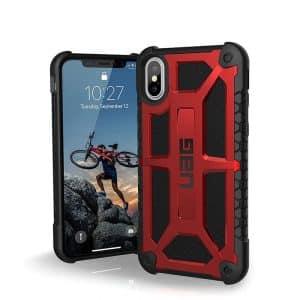 UAG Monarch Series Case for iPhone X/Xs - Crimson/Black