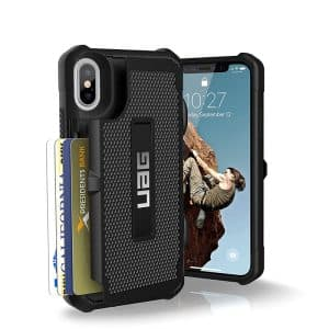 UAG Trooper Series Case for iPhone X/Xs - Black/Silver