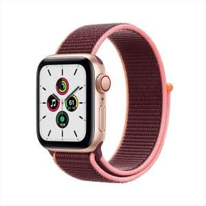 Apple Watch SE GPS+Cellular 40mm Gold Aluminum Case with Plum Sport Loop
