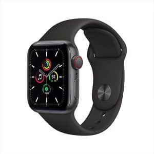 Apple Watch SE GPS+Cellular 40mm Space Gray Aluminum Case with Black Sport Band