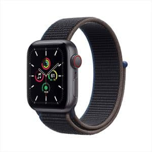 Apple Watch SE GPS+Cellular 40mm Space Gray Aluminum Case with Charcoal Sport Loop