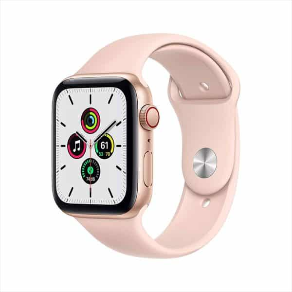 Apple Watch SE GPS+Cellular 44mm Gold Aluminum Case with Pink Sand Sport Band