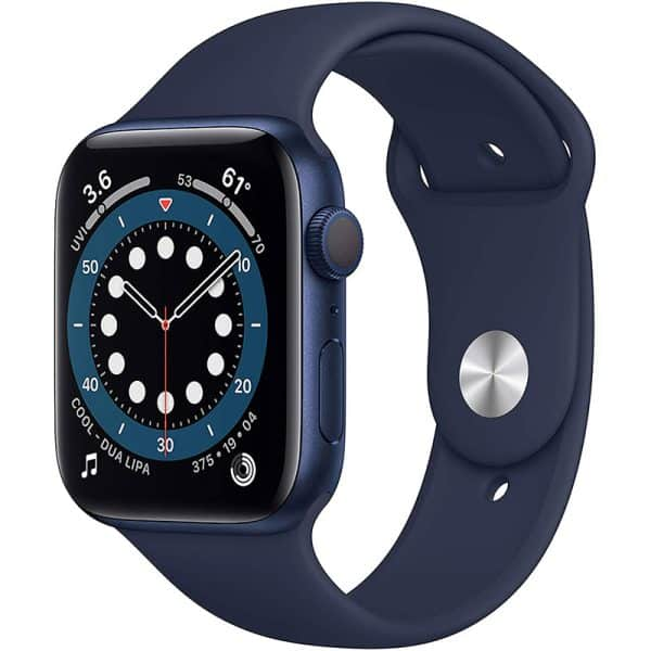 Apple Watch Series 6 GPS 44mm Blue Aluminum Case with Deep Navy Sport Band