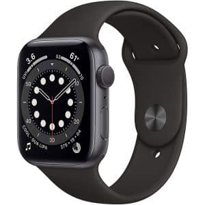 Apple Watch Series 6 GPS 44mm Space Gray Aluminum Case with Black Sport Band