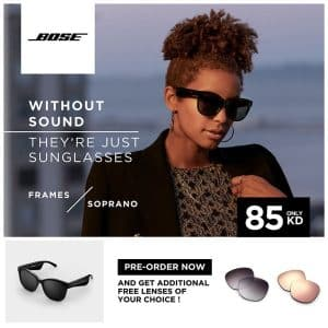 BOSE Frames Soprano Cat Eye Polarized Bluetooth Sunglasses Black