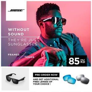 BOSE Frames Tenor Rectangular Polarized Bluetooth Sunglasses Black