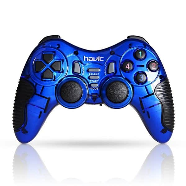 HAVIT Wireless Gamepad Controller HV-G89W 2.4 Ghz for PC PS2 PS3 Blue